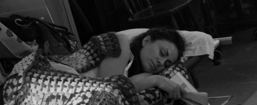 babe sleeping bw